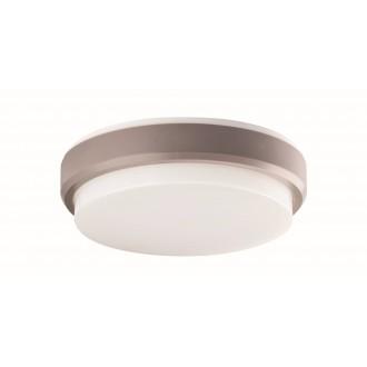 VIOKEF 4171700 | Leros-Plus Viokef stropné svietidlo 1x LED 800lm 3000K IP54 strieborný, biela