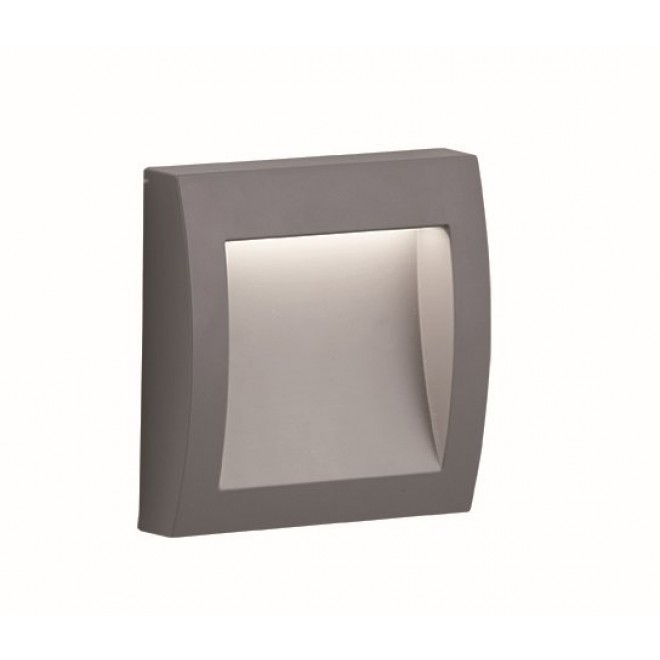 VIOKEF 4171800 | Leros-Plus Viokef stenové svietidlo 1x LED 130lm 3000K IP44 strieborný