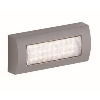 VIOKEF 4171900 | Leros-Plus Viokef stenové svietidlo 1x LED 190lm 3000K IP44 strieborný