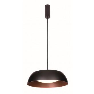 VIOKEF 4173400 | Chester-VI Viokef visiace svietidlo 1x LED 1920lm 3000K čierna, hnedá, matný opál
