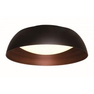 VIOKEF 4173500 | Chester-VI Viokef stropné svietidlo 1x LED 1920lm 3000K čierna, hnedá, matný opál