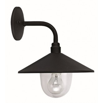 VIOKEF 4178200 | Pilos Viokef rameno stenové svietidlo 1x E27 IP44 čierna, priesvitná