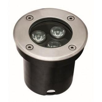 VIOKEF 4186800 | Lotus-VI Viokef zabudovateľné svietidlo Ø100mm 1x LED 330lm 3200K IP67 strieborný, čierna