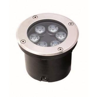 VIOKEF 4186900 | Lotus-VI Viokef zabudovateľné svietidlo Ø120mm 1x LED 660lm 3200K IP67 strieborný, čierna