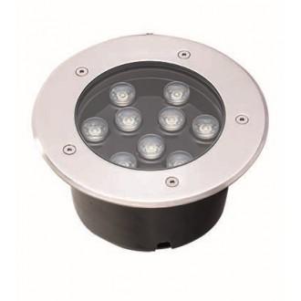 VIOKEF 4187000 | Lotus-VI Viokef zabudovateľné svietidlo Ø180mm 1x LED 990lm 3200K IP67 strieborný, čierna