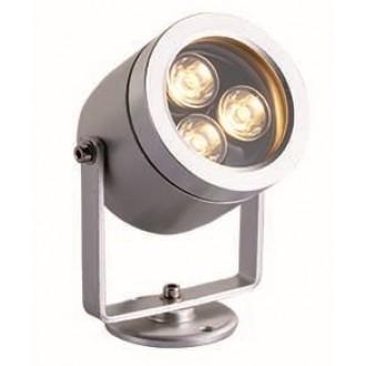VIOKEF 4187700 | Dias Viokef svetlomet, zapichovacie svietidlo otočné prvky 1x LED 270lm 3200K IP65 strieborný