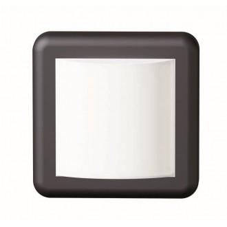 VIOKEF 4189600 | Minos Viokef stenové svietidlo 1x LED 400lm 3000K IP54 čierna, biela