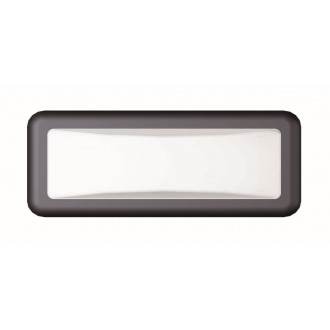 VIOKEF 4189700 | Minos Viokef stenové svietidlo 1x LED 500lm 3000K IP54 čierna, biela