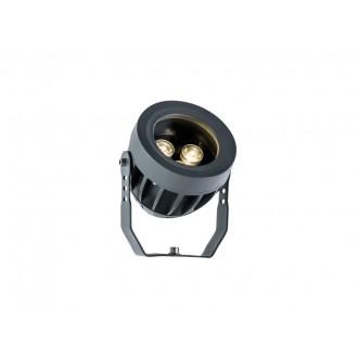 VIOKEF 4205000 | Ermis Viokef svetlomet, zapichovacie svietidlo otočné prvky 3x LED 330lm 3000K IP66 tmavošedá