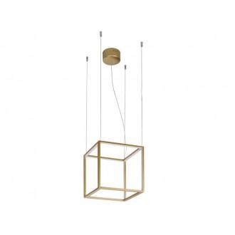 VIOKEF 4207000 | Gold-Cube Viokef visiace svietidlo 1x LED 2080lm 3000K zlatý