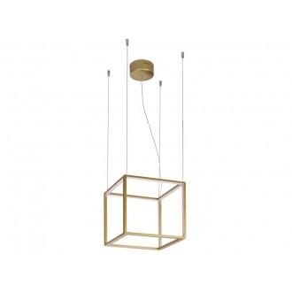 VIOKEF 4207100 | Gold-Cube Viokef visiace svietidlo 1x LED 2880lm 3000K zlatý