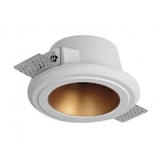 VIOKEF 4209800 | Flame-VI Viokef zabudovateľné svietidlo malovatelné Ø125mm 125x125mm 1x GU10 biela, mosadz