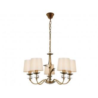 VIOKEF 4210800 | Juliet Viokef luster svietidlo 5x E14 zlatý, béž