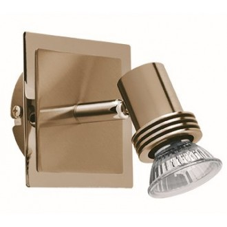 VIOKEF 461901 | Cha-Cha Viokef spot svietidlo otočné prvky 1x GU10 antický, zlatý