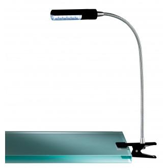 WOFI 290312100000 | FlexW Wofi štipcové svietidlo prepínač flexibilné 1x LED 200lm 3000K čierna, chróm