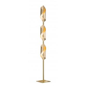 WOFI 3325.03.15.8000 | Safira-WO Wofi stojaté svietidlo 142cm prepínač 3x LED 600lm 3000K zlatý