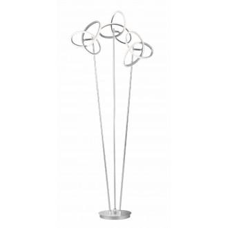 WOFI 3410.03.70.8000 | Eliot-WO Wofi stojaté svietidlo 140cm prepínač otočné prvky 3x LED 3300lm 3000K strieborný