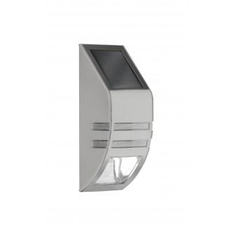 WOFI 4051.01.97.7000 | Cupido Wofi stenové svietidlo svetelný senzor - súmrakový spínač slnečné kolektorové / solárne 1x LED 23lm 6000K IP44 leštený oceľ