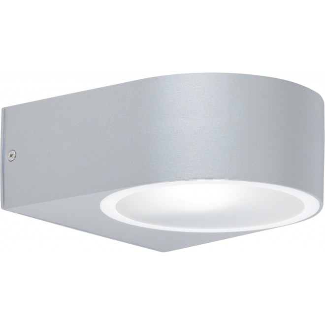 WOFI 4061.01.50.7000 | OsloW Wofi stenové svietidlo 1x E27 IP44 sivé