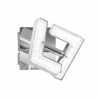 WOFI 4290.01.01.6000 | LeaW Wofi spot svietidlo otočné prvky 1x LED 325lm 3000K chróm, kryštálový efekt