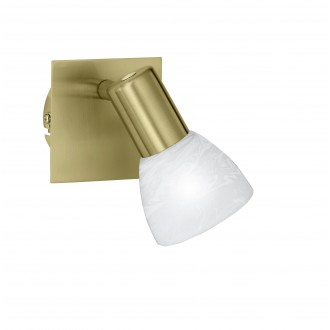 WOFI 4354.01.32.1000 | Angola Wofi stenové svietidlo prepínač navrhované na úsporné žiarovky 1x E14 matné zlato