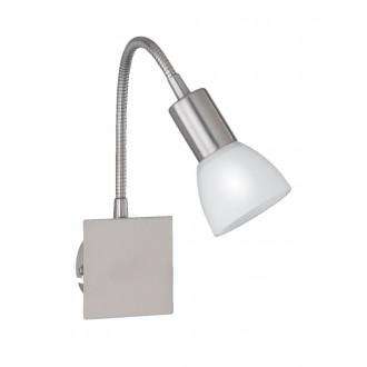 WOFI 4354.01.64.0500 | Angola Wofi stenové svietidlo prepínač flexibilné, navrhované na úsporné žiarovky 1x E14 matný nikel