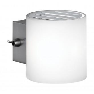 WOFI 4451.01.64.0500 | Aqaba Wofi stenové svietidlo prepínač na vedení 1x G9 matný nikel