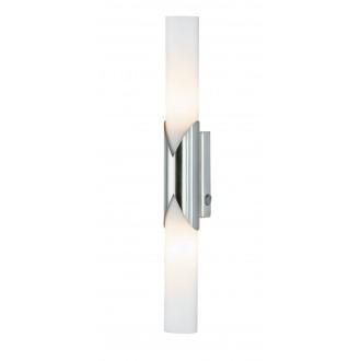 WOFI 4931.02.64.0000 | Eddy Wofi stenové svietidlo prepínač navrhované na úsporné žiarovky 2x E14 matný nikel