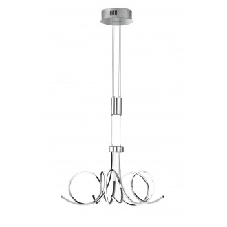 WOFI 5227.05.01.6000 | Cyrano Wofi visiace svietidlo protiváhové, nastaviteľná výška, regulovateľná intenzita svetla 1x LED 2700lm 3000K chróm