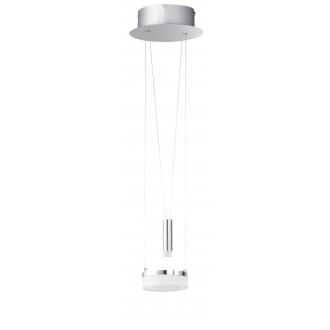 WOFI 6263.02.54.6000 | Jette Wofi visiace svietidlo protiváhové, nastaviteľná výška, regulovateľná intenzita svetla 1x LED 660lm + 1x LED 60lm 3000K matný nikel, chróm, biela