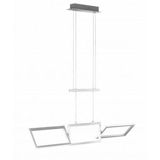 WOFI 7159.01.63.8100 | Skip Wofi visiace svietidlo otočné prvky, protiváhou nastaviteľná výška 1x LED 2700lm 3000K leštený hliník