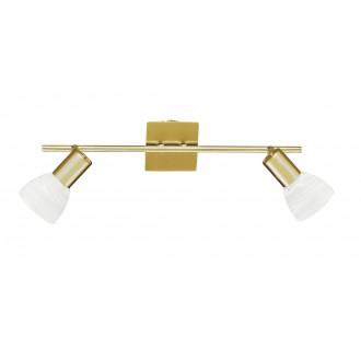 WOFI 7354.02.32.1000 | Angola Wofi stenové svietidlo prepínač navrhované na úsporné žiarovky 2x E14 matné zlato