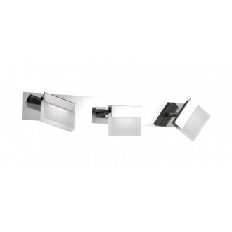 WOFI 7501.03.01.0044 | Sonett Wofi stenové, stropné svietidlo otočné prvky 3x LED 960lm 3000K IP23 chróm, biela