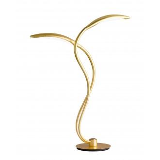 WOFI 8326.02.15.5000 | Hampton Wofi stolové svietidlo 55cm trojstupňový prepínač regulovateľná intenzita svetla 2x LED 750lm 3000K zlatý