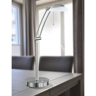 WOFI 8343.01.64.0000 | Liverpool Wofi stolové svietidlo 70cm prepínač s reguláciou svetla regulovateľná intenzita svetla 1x G9 740lm 2800K matný nikel