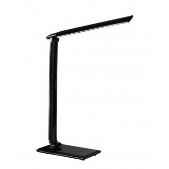 WOFI 846901100000 | Tubac Wofi stolové svietidlo 56cm dotykový prepínač s reguláciou svetla regulovateľná intenzita svetla, nastaviteľná farebná teplota, otočné prvky, USB prijímač 1x LED 520lm 3000 <-> 6500K čierna