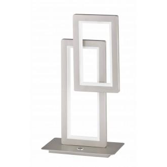 WOFI 8531.02.64.8000 | Viso Wofi stolové svietidlo 46cm trojstupňový prepínač regulovateľná intenzita svetla 1x LED 1900lm 3000K matný nikel
