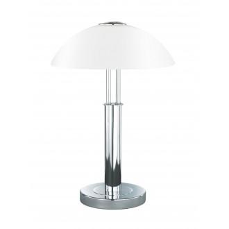 WOFI 8747.02.01.0000 | Prescot Wofi stolové svietidlo 42cm dotykový prepínač s reguláciou svetla regulovateľná intenzita svetla 2x E14 chróm