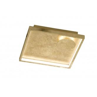 WOFI 9045.02.15.7300 | Letizia Wofi stenové, stropné svietidlo štvorec 1x LED 1030lm 3000K zlatý