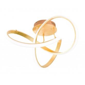 WOFI 9134.01.15.7000 | Indigo-Soul Wofi stropné svietidlo regulovateľná intenzita svetla 1x LED 3900lm 3000K zlatý, biela