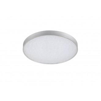 WOFI 9135.01.70.7000 | Glam Wofi stropné svietidlo kruhový diaľkový ovládač regulovateľná intenzita svetla, nastaviteľná farebná teplota 1x LED 3100lm 2700 <-> 6500K strieborný, biela, kryštálový efekt