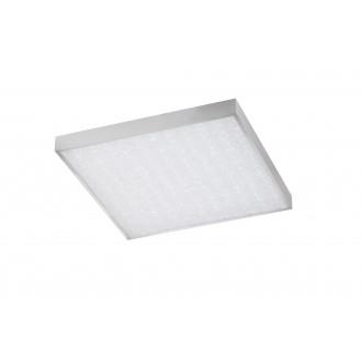 WOFI 9135.01.70.7600 | Glam Wofi stropné svietidlo štvorec diaľkový ovládač regulovateľná intenzita svetla, nastaviteľná farebná teplota 1x LED 3100lm 2700 <-> 6500K strieborný, biela, kryštálový efekt