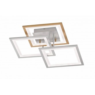 WOFI 9243.03.44.8000   Modesto-WO Wofi stropné svietidlo impulzový prepínač regulovateľná intenzita svetla 1x LED 2500lm 3000K strieborný, zlatý