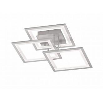 WOFI 9243.03.70.8300   Modesto-WO Wofi stropné svietidlo impulzový prepínač regulovateľná intenzita svetla 1x LED 2500lm 3000K strieborný