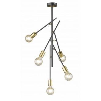 WOFI 9255.05.10.8000   Tanil-York Wofi stropné svietidlo otočné prvky 5x E27 čierna, zlatý