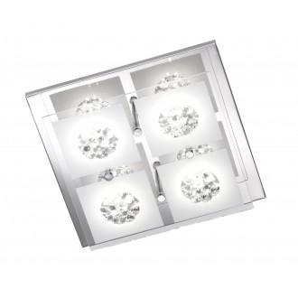 WOFI 9272.04.01.0000   Reims Wofi stropné svietidlo 4x LED 1000lm 3000K chróm, priesvitné, opál