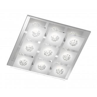 WOFI 9272.09.01.0000   Reims Wofi stropné svietidlo 9x LED 2250lm 3000K chróm, priesvitné, opál