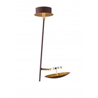WOFI 9287.01.15.6000   Pierre-Salem-Nogan Wofi stropné svietidlo otočné prvky 1x LED 400lm 3000K zlatý, hnedá