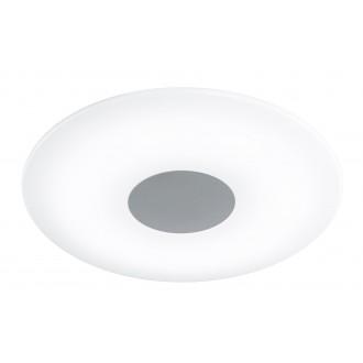 WOFI 9350.01.64.0400 | Sila Wofi stropné svietidlo diaľkový ovládač regulovateľná intenzita svetla, nastaviteľná farebná teplota 1x LED 2500lm 3000 <-> 6000K matný nikel, biela