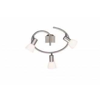 WOFI 9354.03.64.0000 | Angola Wofi stenové, stropné svietidlo navrhované na úsporné žiarovky 3x E14 matný nikel